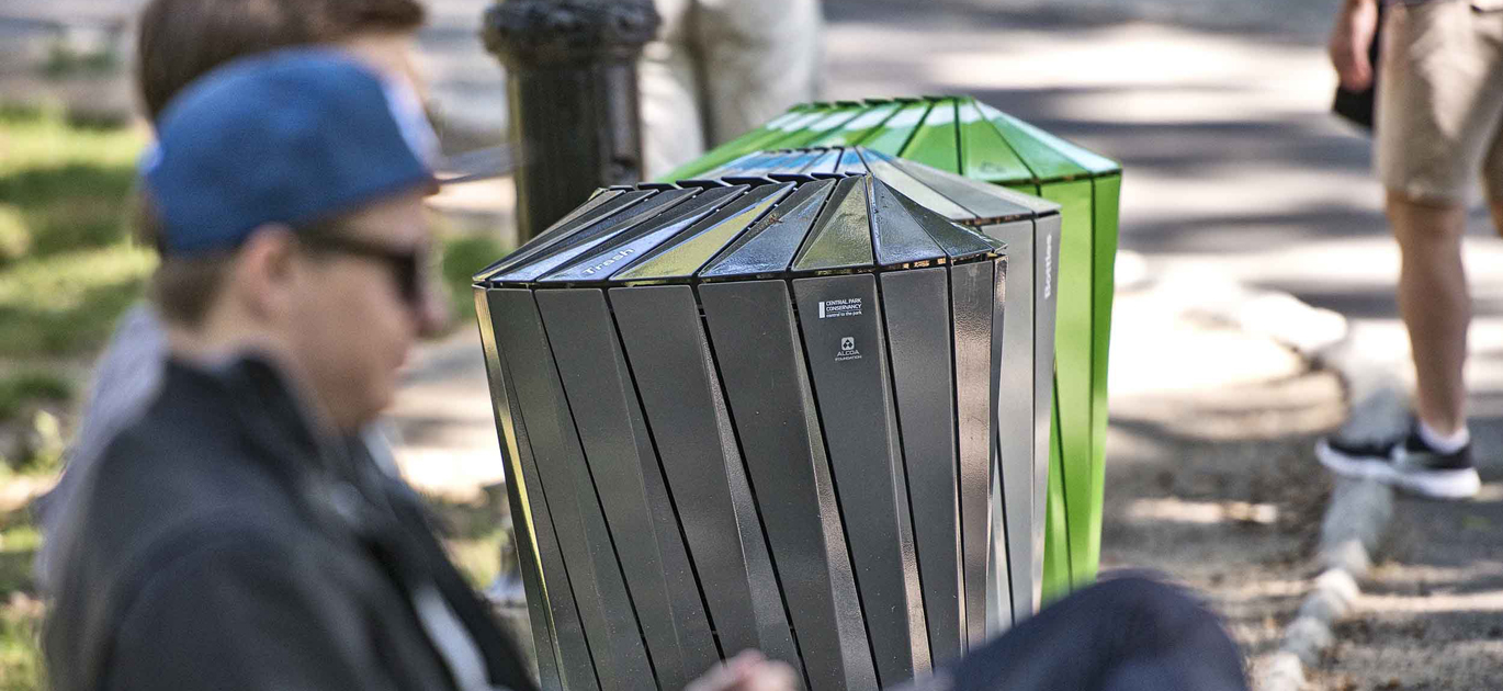 Central Park Conservancy Recycling System