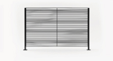 Panel L I N E Landscape - Varilla horizontal de media pulgada