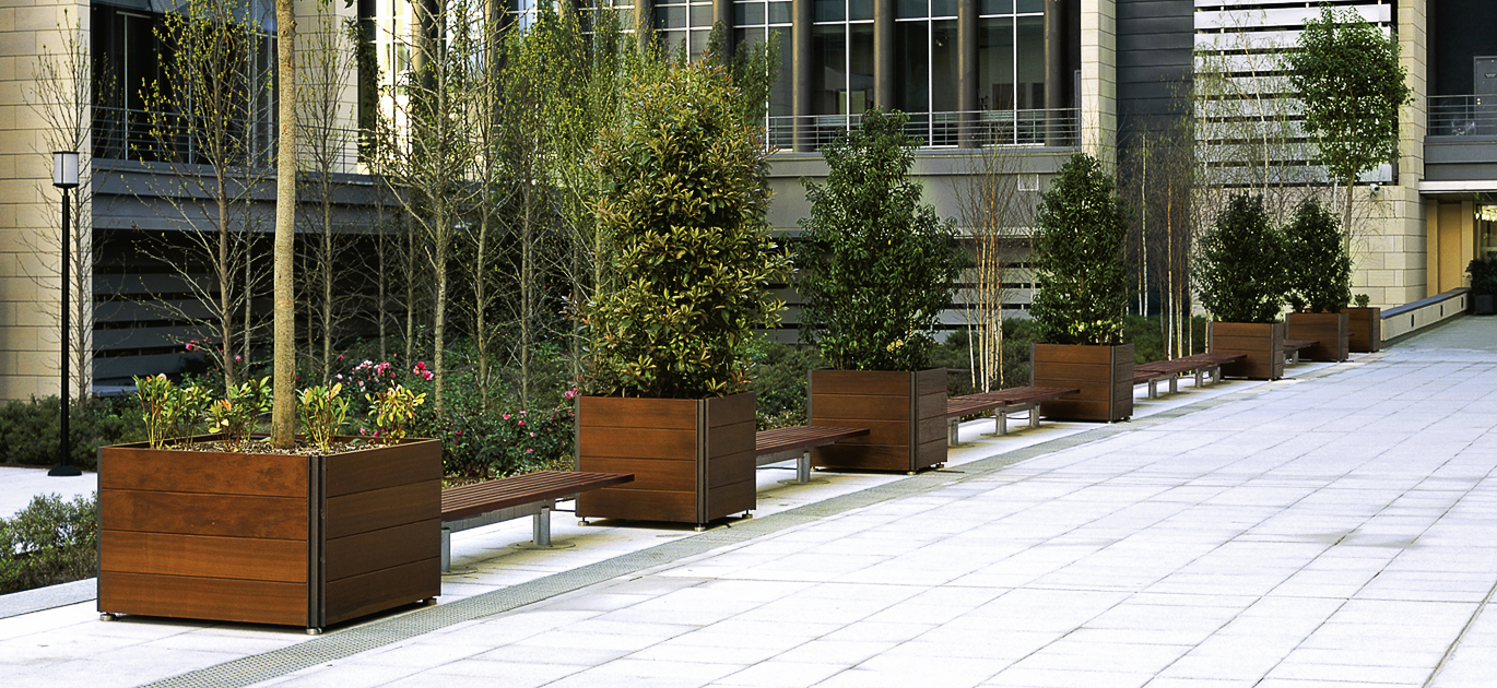 forms landscape ideas planter timber pottery container planters