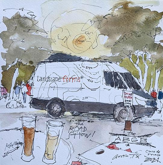 Ilustración del Road Show de Robert Chipman
