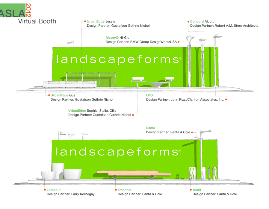 Landscape Forms ASLA 2012 Virtual Booth