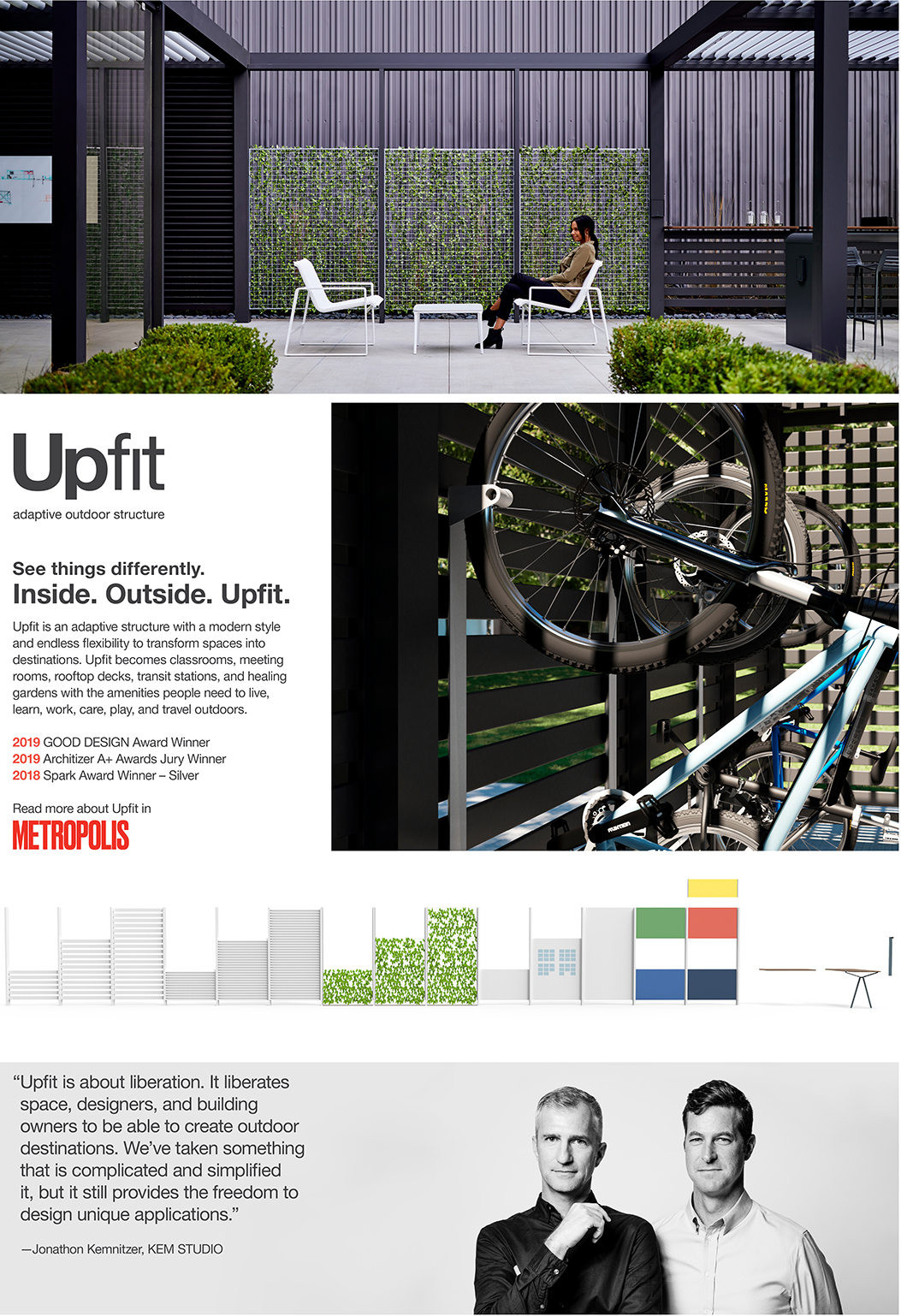 Upfit - adaptive outdoor structure