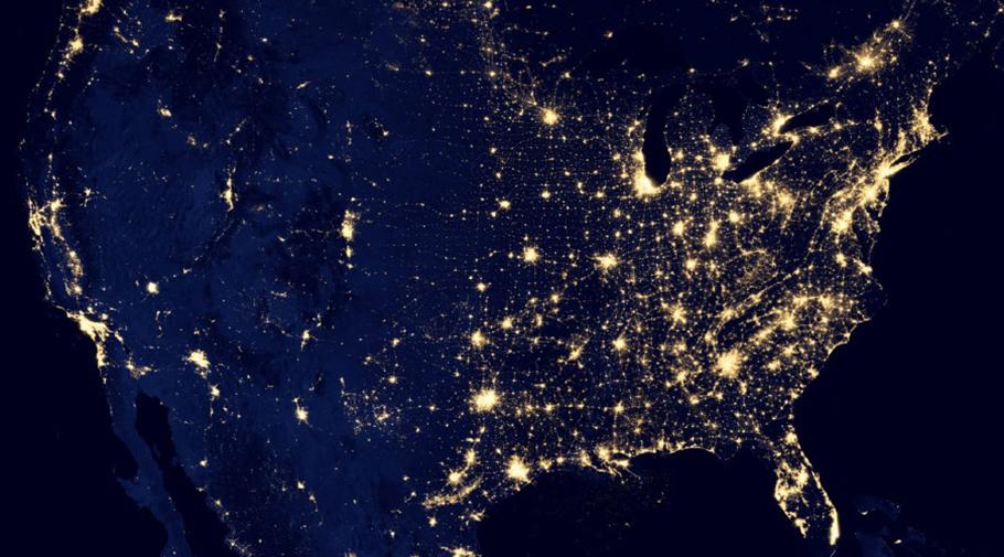 Éclairage extérieur la nuit