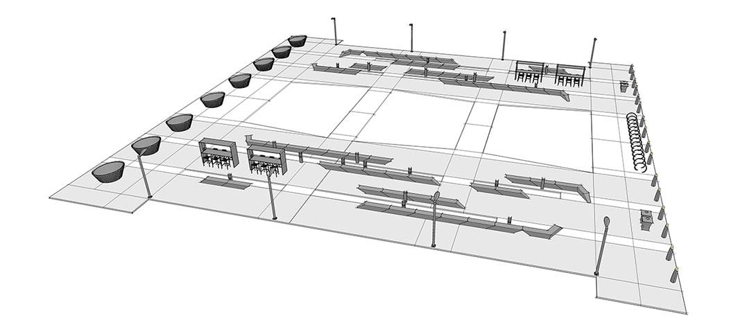 Diseño2 de aplicación de plaza central