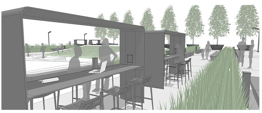 Diseño3 de aplicación de plaza central
