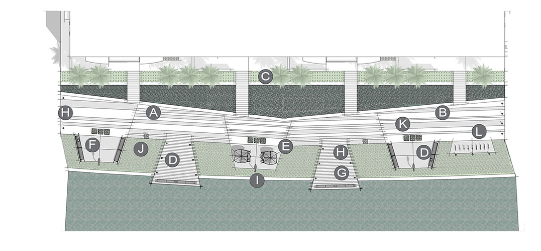 Configuración de aplicación de parque lineal