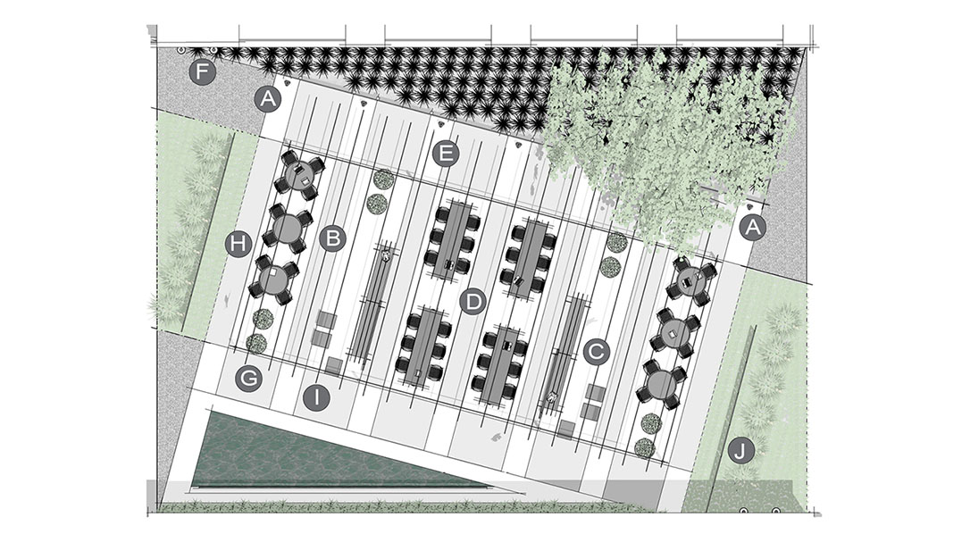 Application Pocket Park Layout