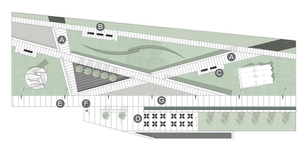 Diseño de aplicación de parque de esculturas