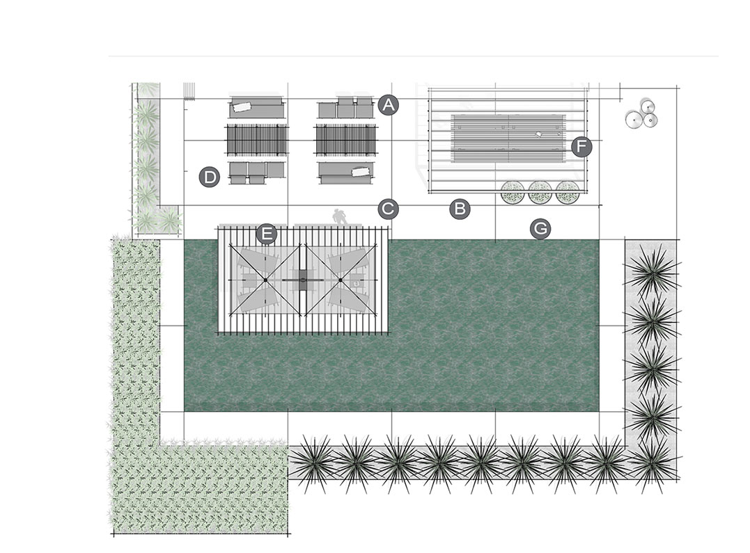 Application Terrace Garden Layout
