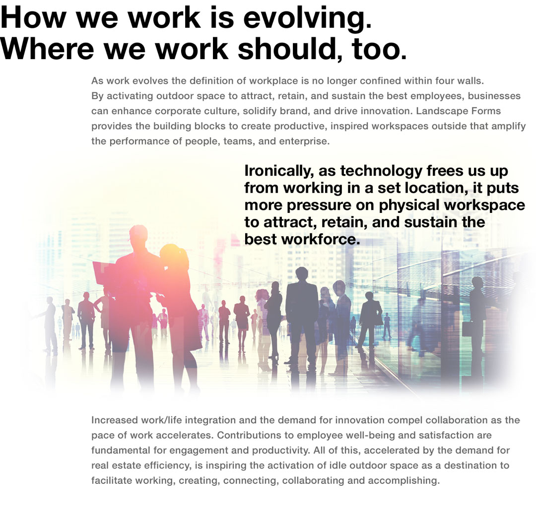 How we work is evolving.