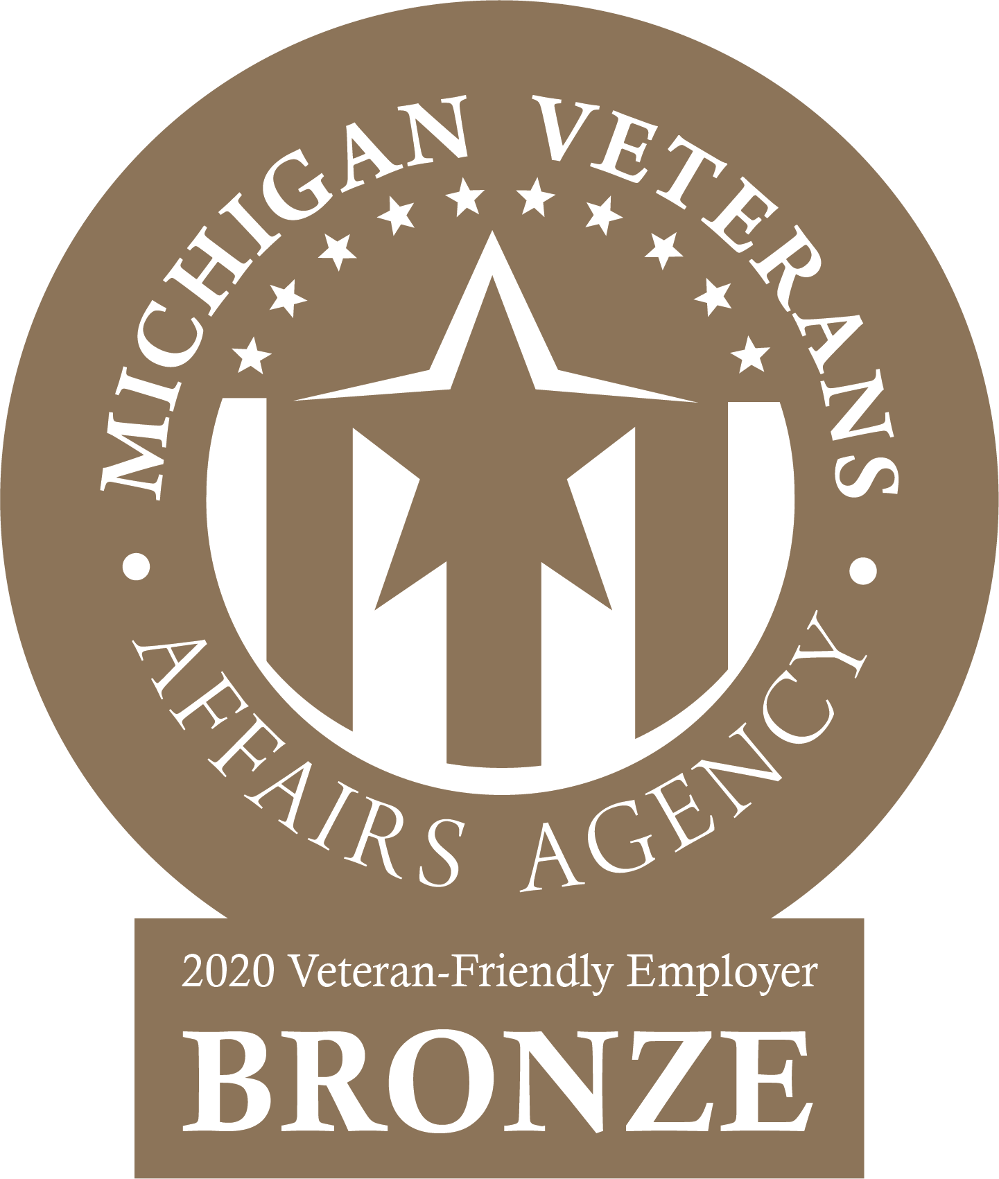 Michigan Veterans Affairs Agency - 2020 Veteran-Friendly Employer Bronze