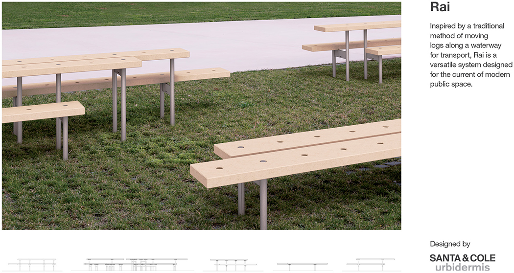 Rai Outdoor Bench